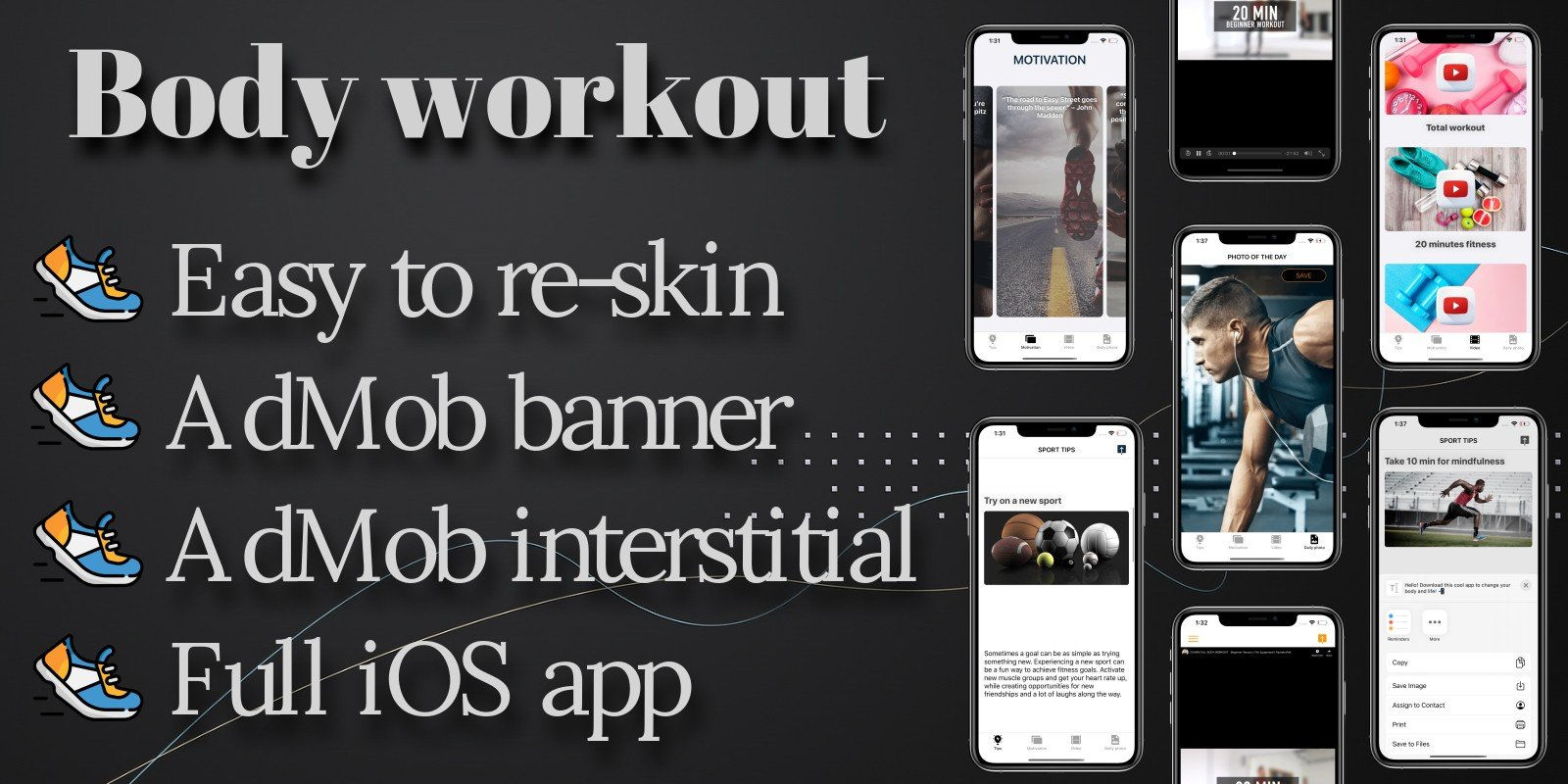 Body Workout - iOS Full Template