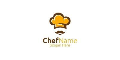 Chef Food Logo For Restaurant Or Cafe