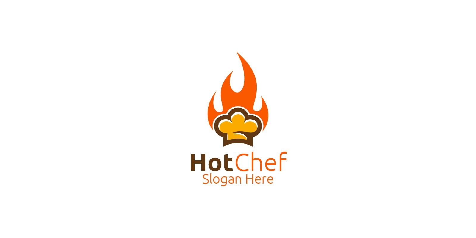 Hot Chef Food Logo For Restaurant Or Cafe