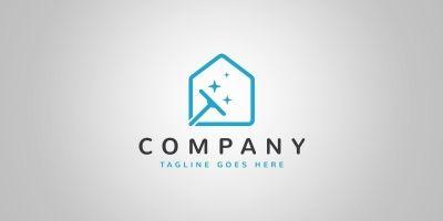Clean House Logo Template