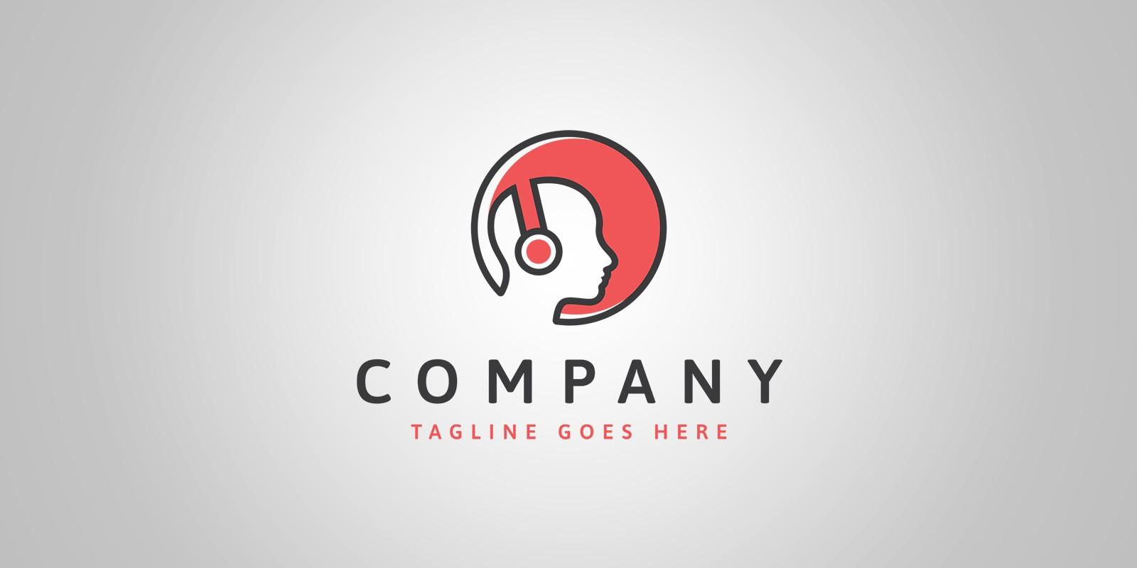 Music Head Logo Template