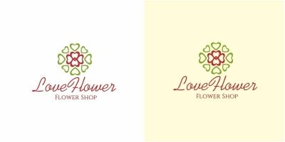 Love Flower Logo
