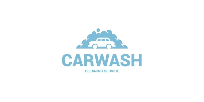 Bubble Car Wash Logo Template