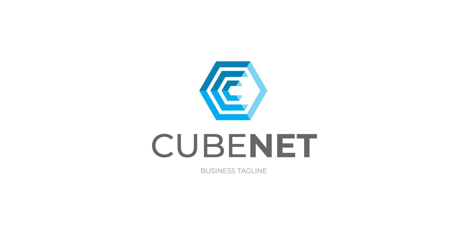 Cubenet - Letter C Hexagon Logo