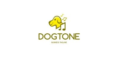 Dog Music Logo Template