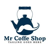 Mr Coffee Shop Logo Design