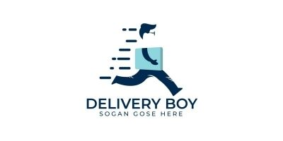 Delivery Boy Logo Design