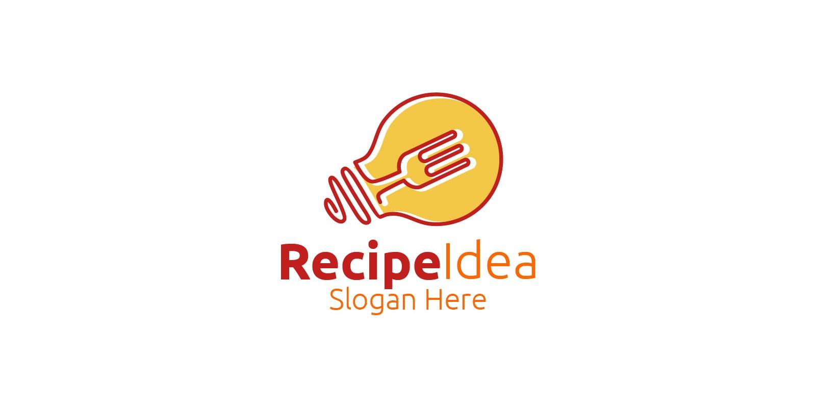 Recipe Idea Food Logo For Restaurant Or Cafe