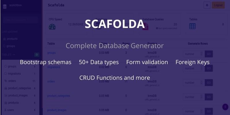 Scafolda - Complete Database Generator