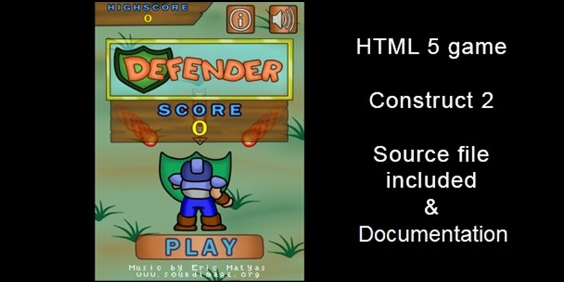 Defender - Game Template Construct 2