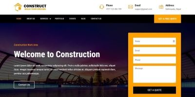 Construction Template HTML