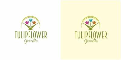 Tulip Flower Logo