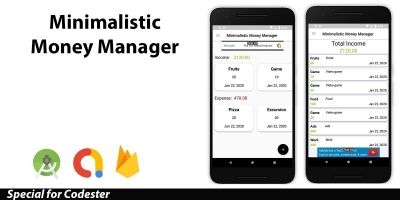 Minimalistic Money Manager With AdMob Android