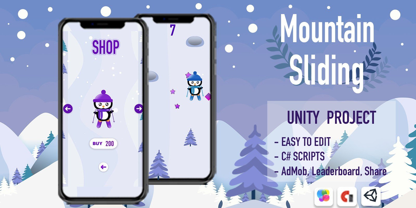 Mountain Sliding - iOS Template