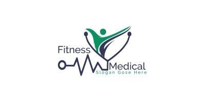 Fitness Medical Logo Design