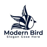 Modern Bird Logo Design