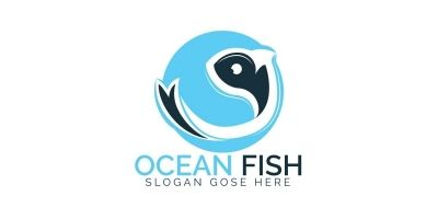 Ocean Fish Logo Design