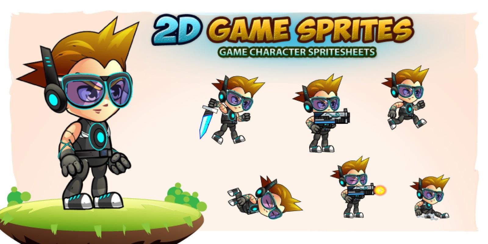 Calvin 2D Game Charcter Sprites