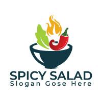 Spicy Salad Logo Design