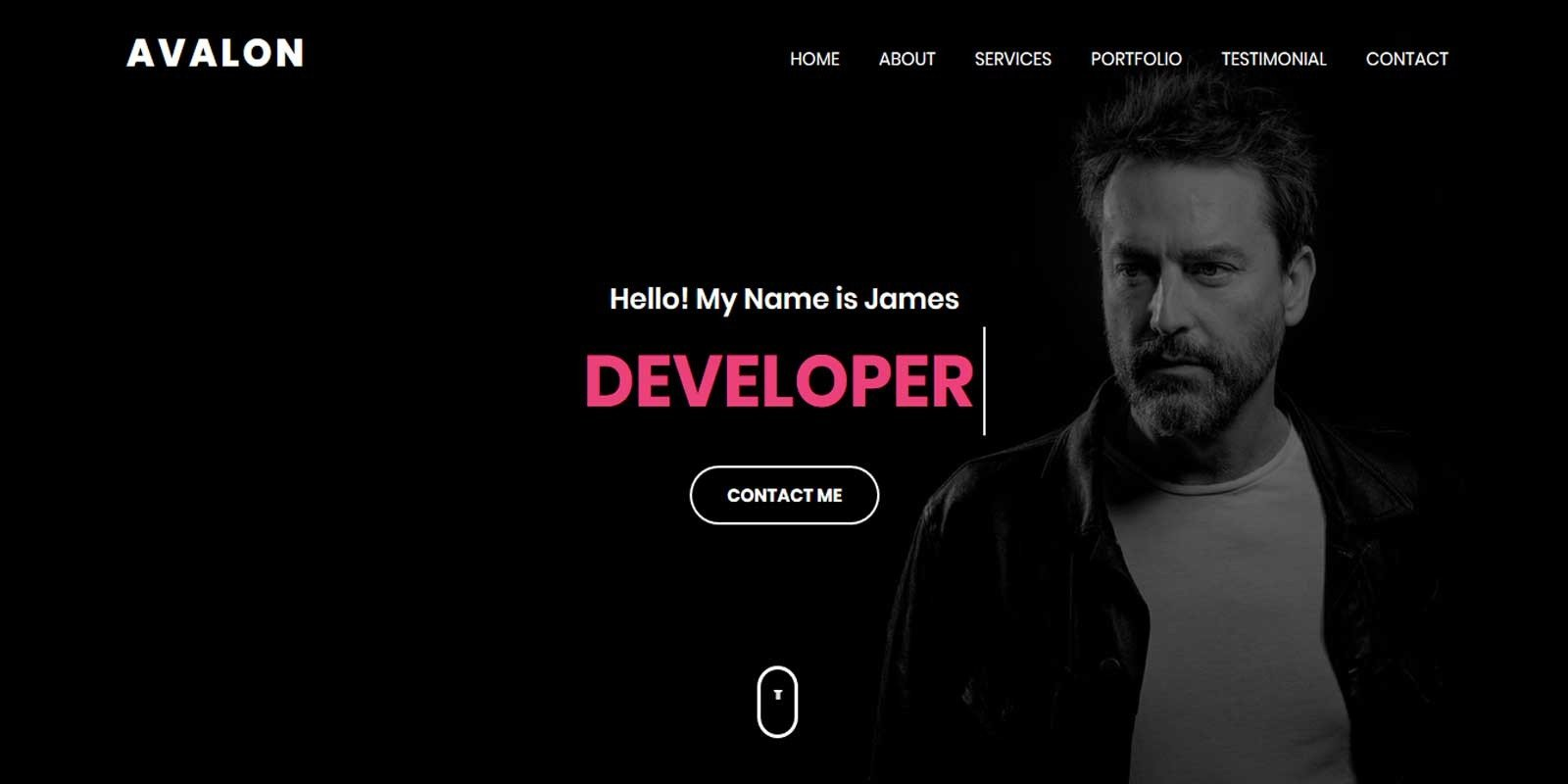 Avalon- Personal Portfolio HTML Template