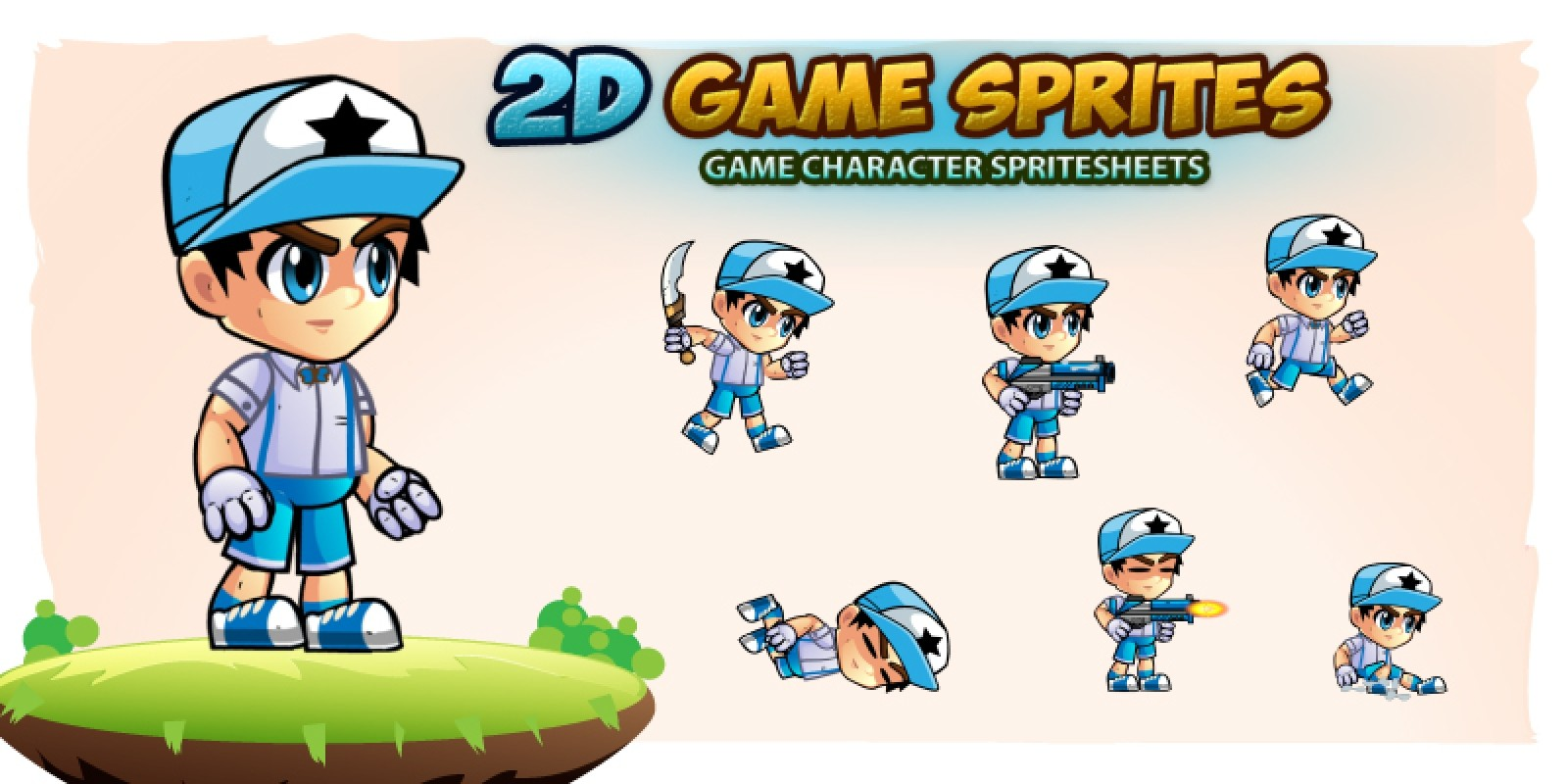 Niel 2D Game Character Sprites