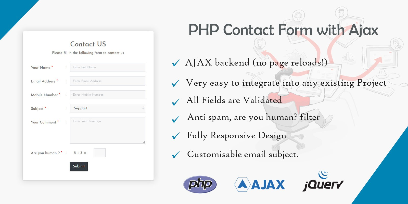 PHP Contact Form With Ajax