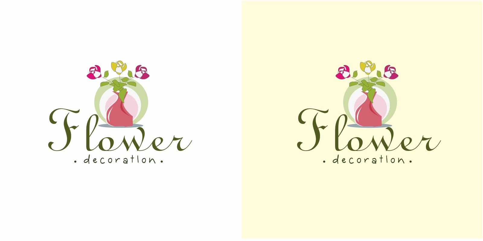 Flower Decoration Logo