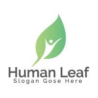 Human Leaf Logo Design