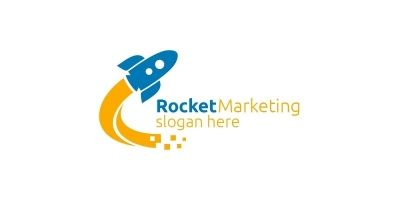 Rocket Marketing Financial Advisor Logo Design