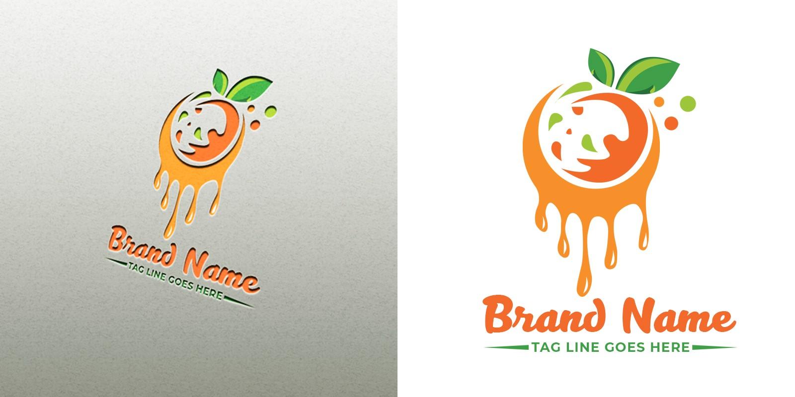 Orange Logo Design Template