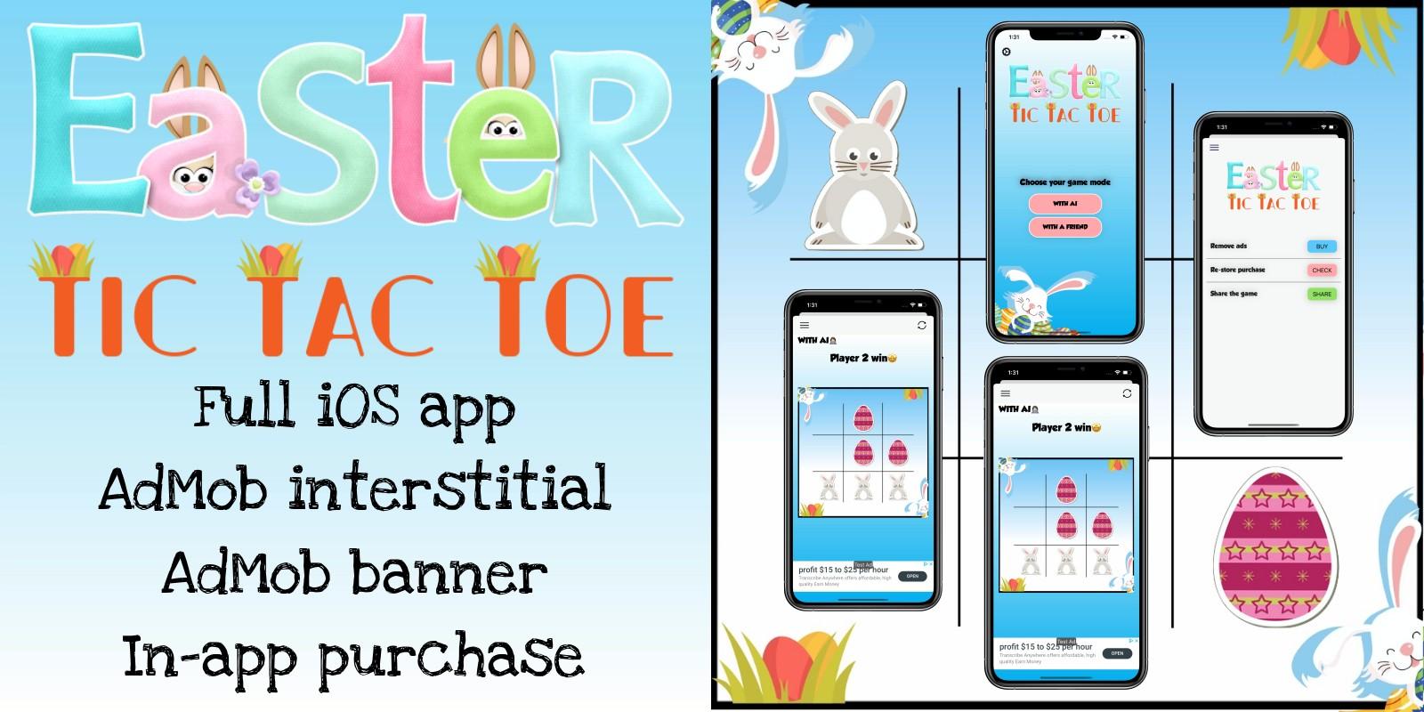 Easter Tic Tac Toe - Full iOS Application
