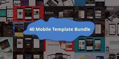 40 Mobile Templates Bundle