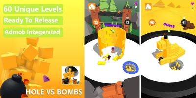Hole vs Bombs - Unity 3D Complete Project