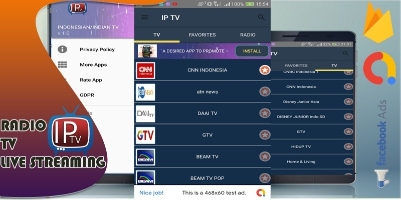 Android IP TV App With Firebase