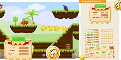 Gorilla Run Platformer Game Assets