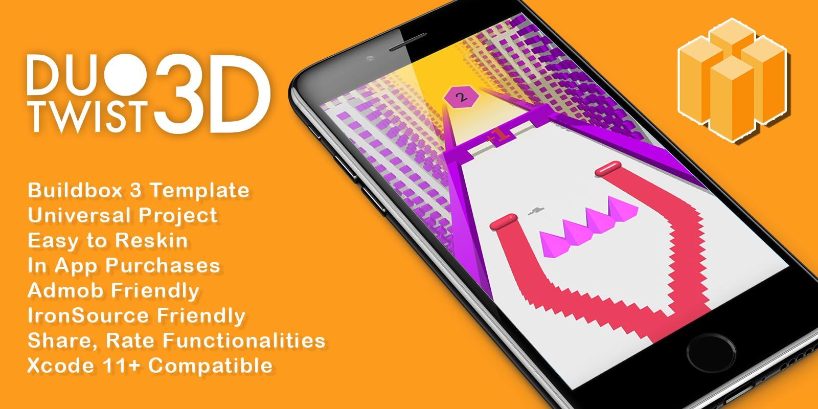 Duo Twist 3D - Buildbox 3 Template