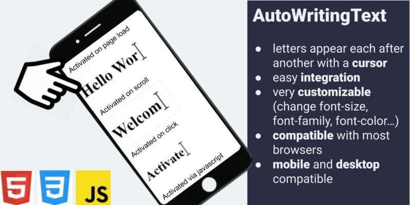 AutoWritingText - Type Animation JavaScript