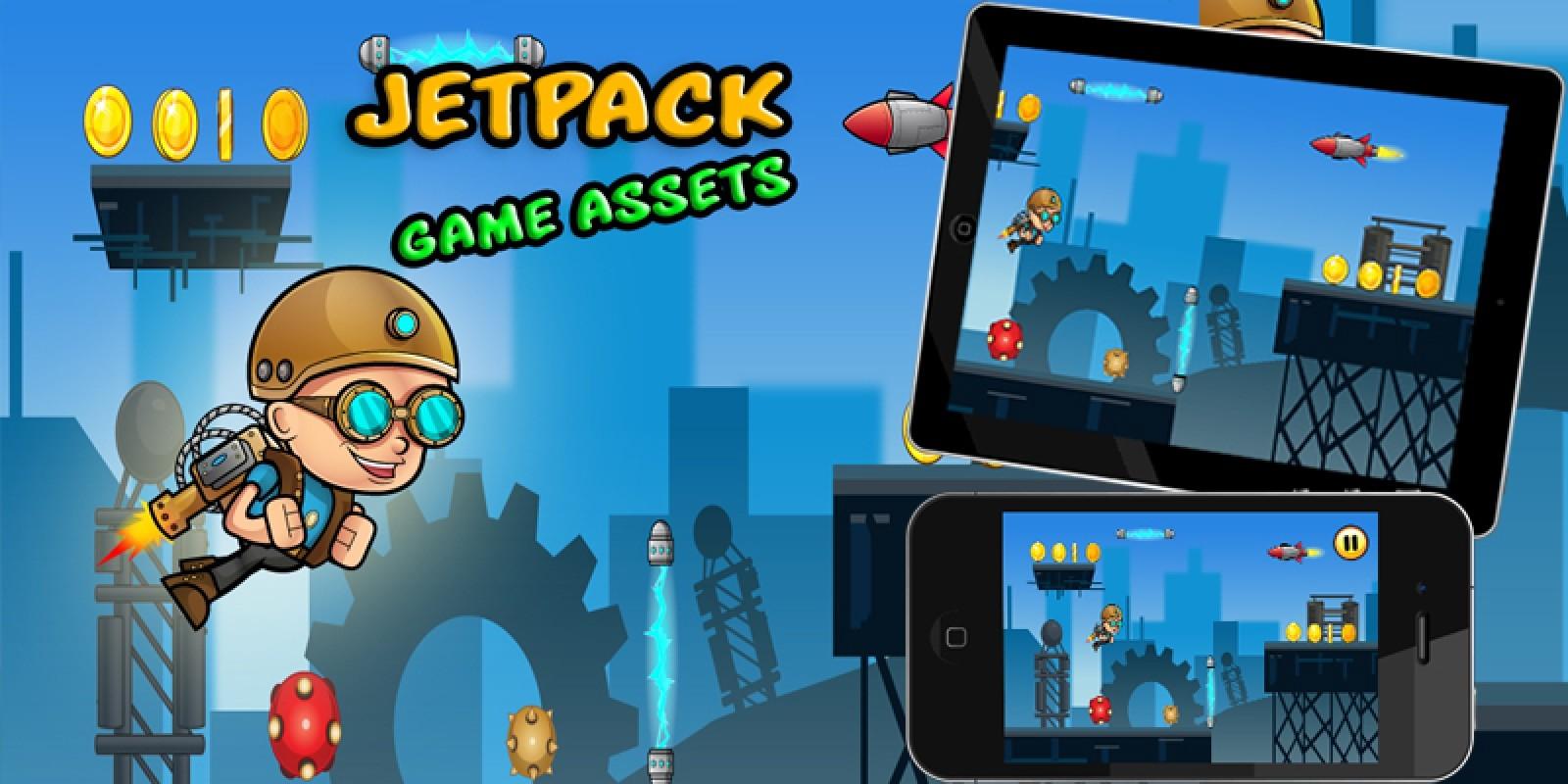 Jetpack Boy Game assets Kit