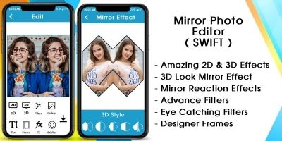 Mirror Photo - 3D MirrorPic Editor iOS Swift