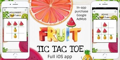 Fruit Tic Tac Toe - Full iOS App Source Code