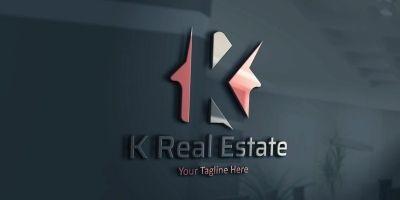 K Letter House Logo