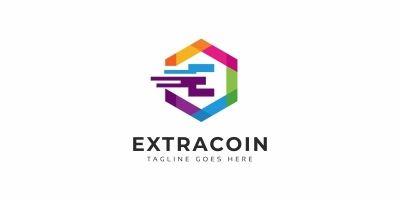Extracoin E Letter Logo