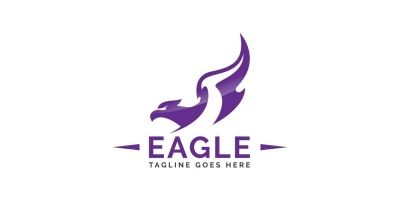 Eagle Bird Logo Abstract Design
