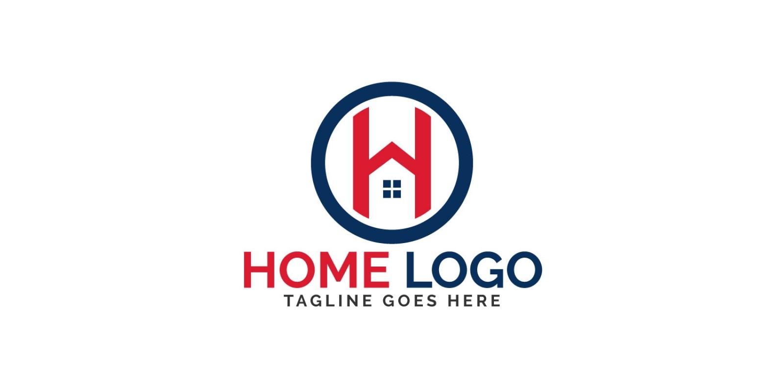 Letter H Home Vector Logo Design