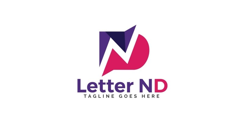 Initial Letter ND Vector Logo Design