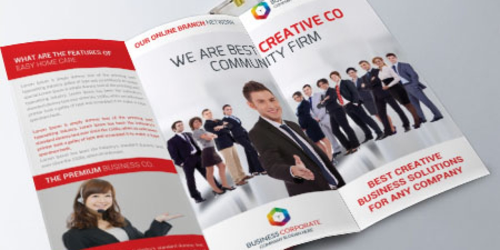 MultiPurpose Corporate Trifold Brochure Template