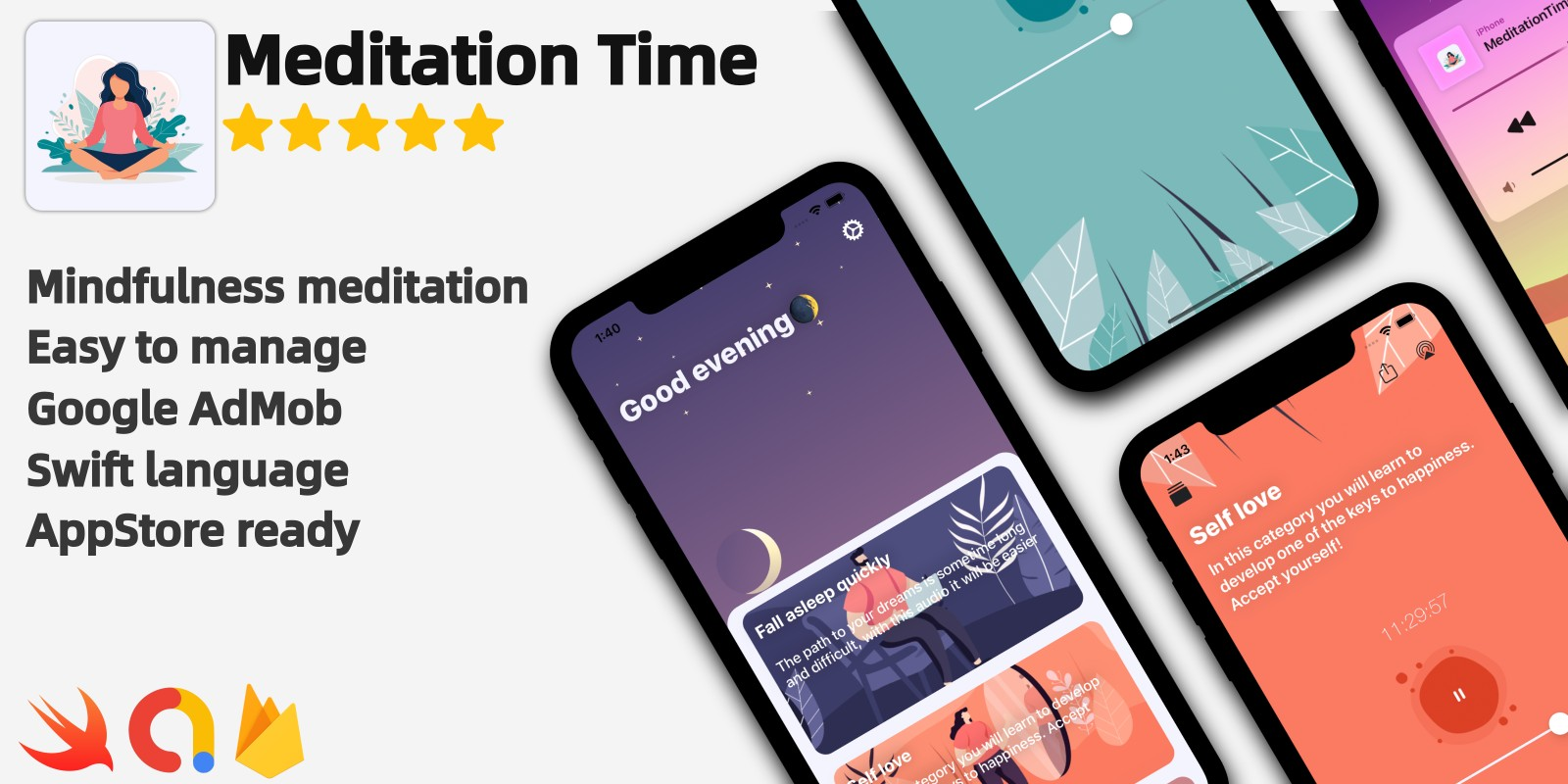 Meditation Time - Full iOS Application
