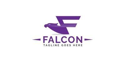 Letter F Falcon Logo Design