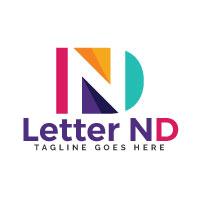Letter ND Logo Design