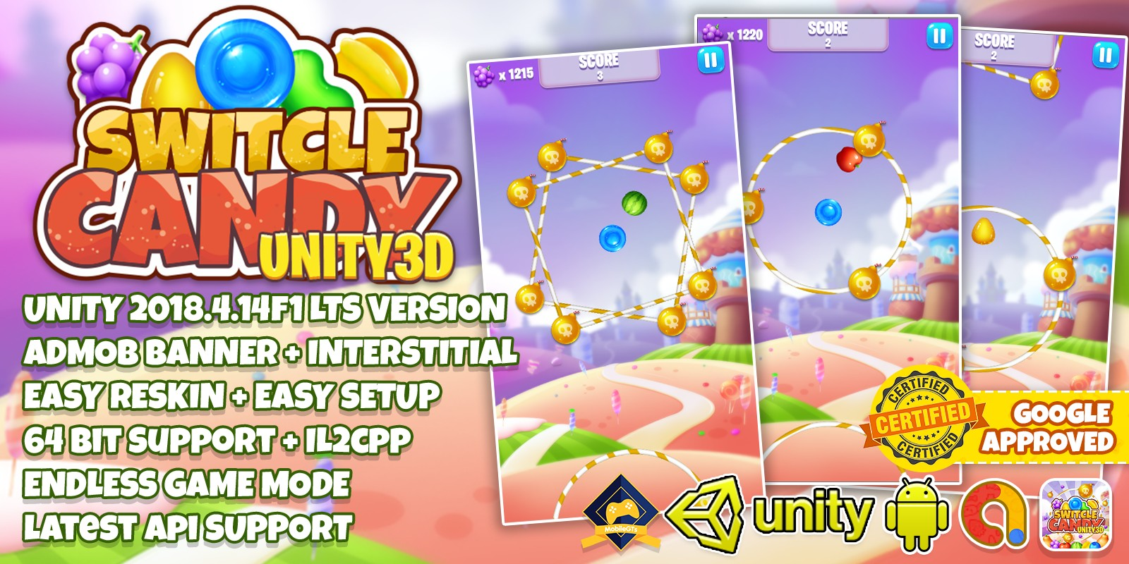 Switch Candy - Complete Unity3D Project
